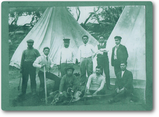 白瀬南極探検隊のテント